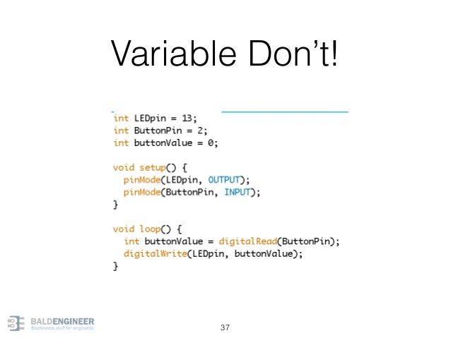 Variable Don't! 37