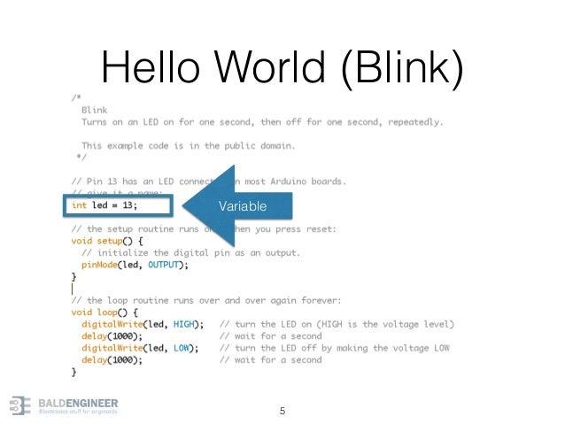 Hello World (Blink) 5 Variable