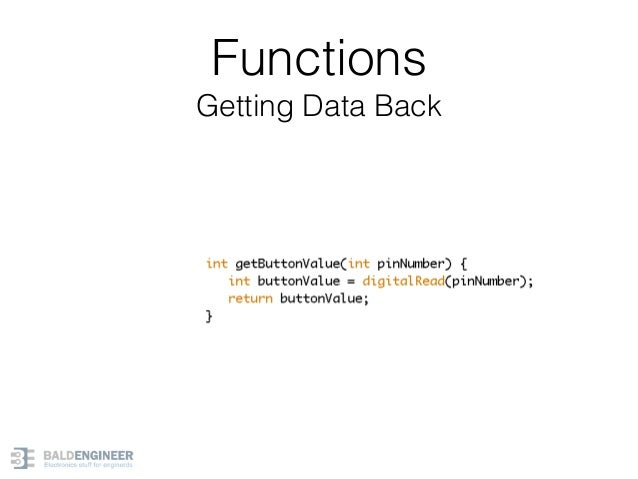 Functions Getting Data Back