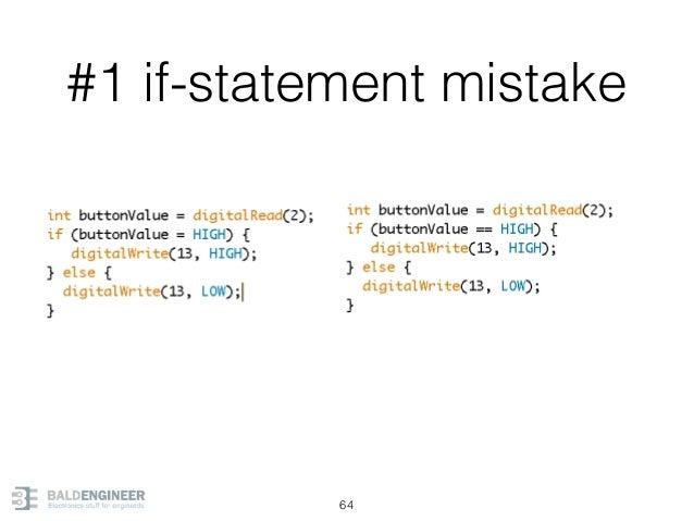 #1 if-statement mistake 64