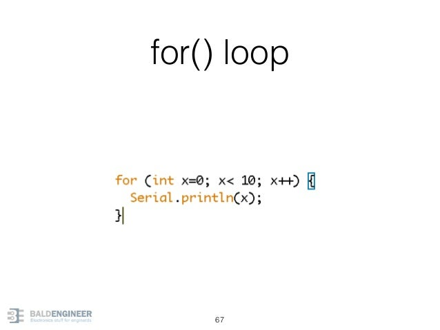 for() loop 67