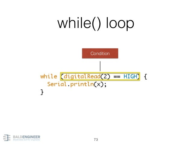 while() loop 73 Condition