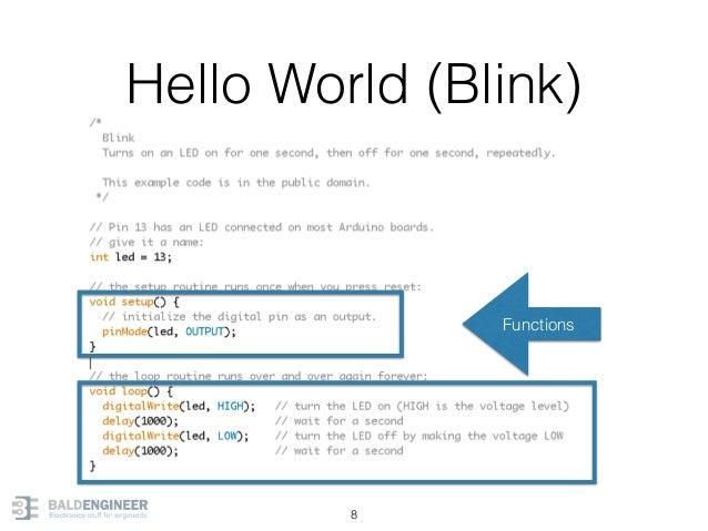 Hello World (Blink) 8 Functions