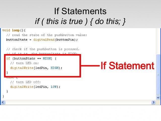 Arduino section programming slides