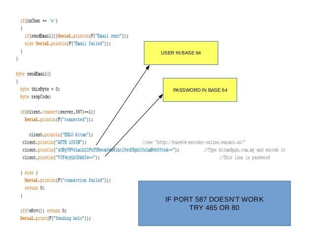 Arduino uno + smtp + ethernet shield