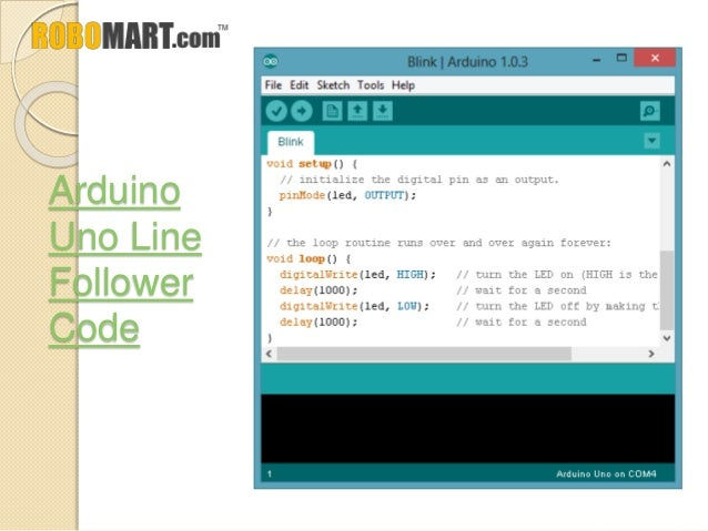 Arduino uno line follower code