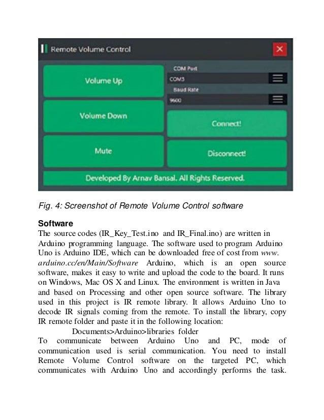 Arduino windows remote control
