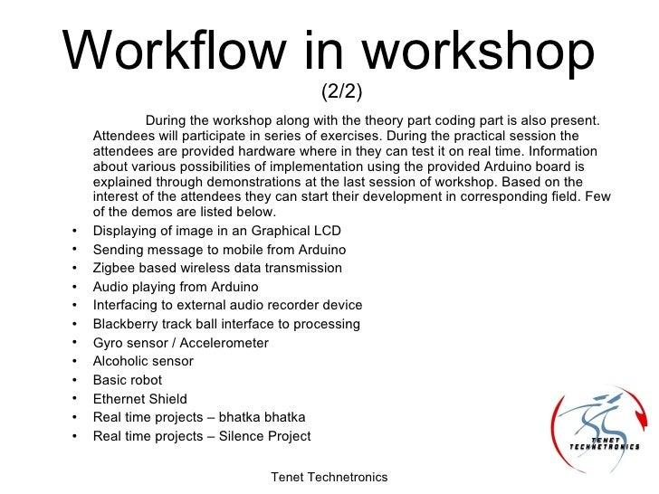 Arduino workshop proposal