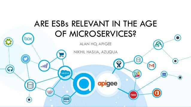 ARE ESBs RELEVANT IN THE AGE OF MICROSERVICES? ALAN HO, APIGEE NIKHIL HASIJA, AZUQUA
