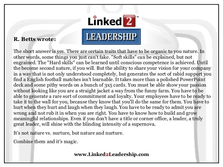 Short Essay on Leadership