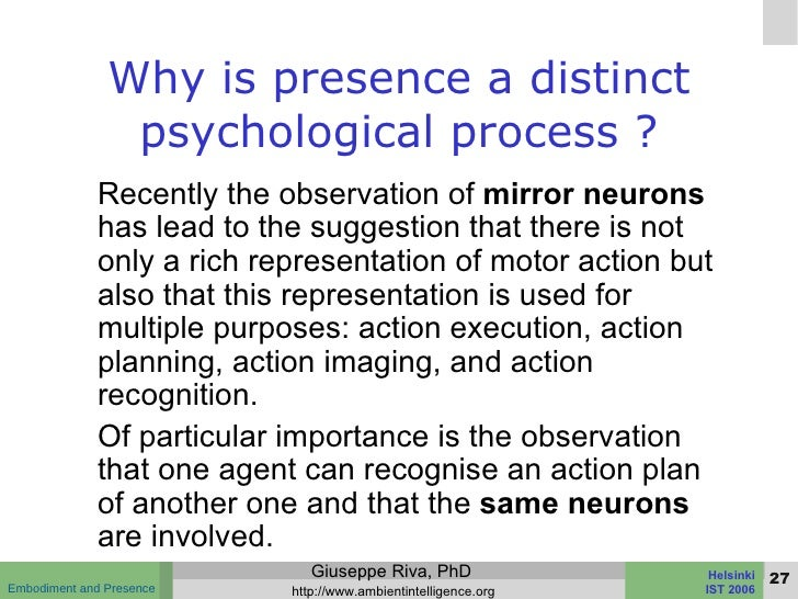 Are robots present for Mirror neurons psychology definition
