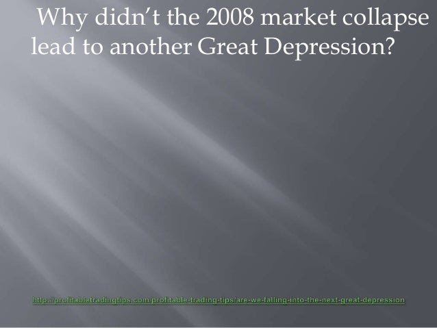 are we falling into the next great depression