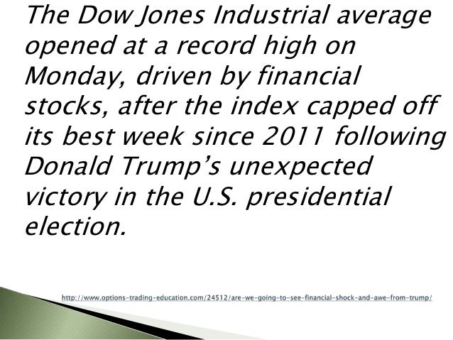 Are We Going to See Financial Shock and Awe from Trump?