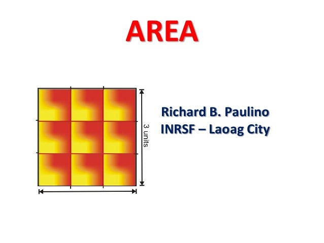 AREA Richard B. Paulino INRSF – Laoag City