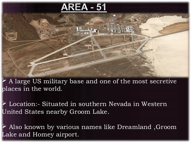 area 51 a top secret military base Under-ocean military bases: there that the central intelligence agency finally admitted to the existence of area 51 the very first top secret memo on the.