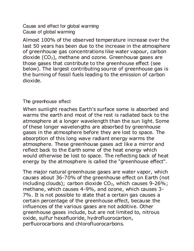 a reaction paper in science global warming  10