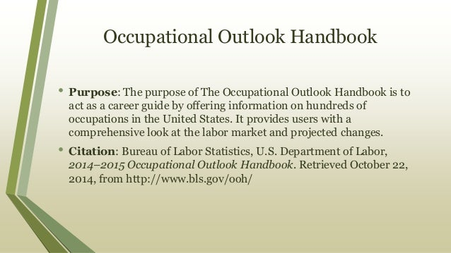 A ready reference 2014–2015 occupational outlook handbook