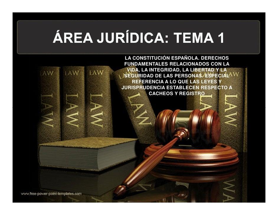 LA CONSTITUCIÓN ESPAÑOLA. DERECHOS FUNDAMENTALES RELACIONADOS CON LA  VIDA, LA INTEGRIDAD, LA LIBERTAD Y LA SEGURIDAD DE L...