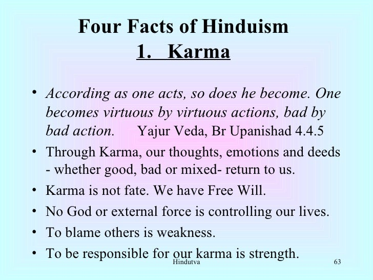 Are all religions equal hindutva for All about karma