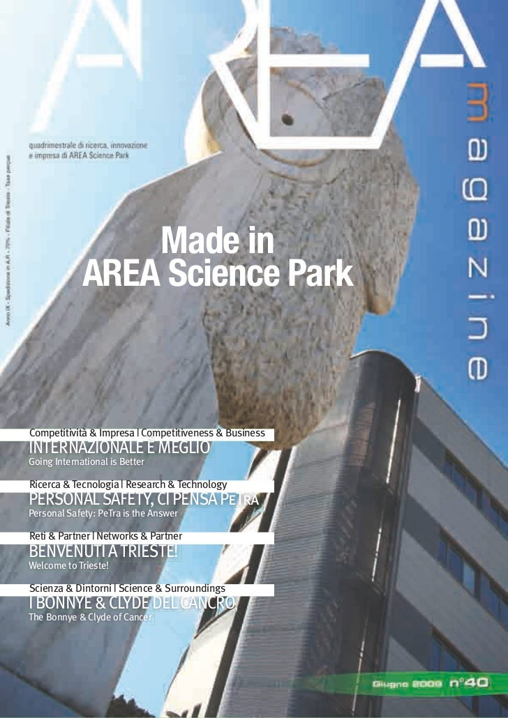 Made in              AREA Science Park    Competitività & Impresa | Competitiveness & Business INTERNAZIONALE È MEGLIO Goi...