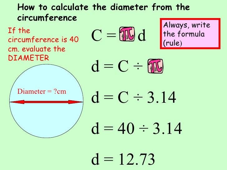 Diameter Of A Circle Formula