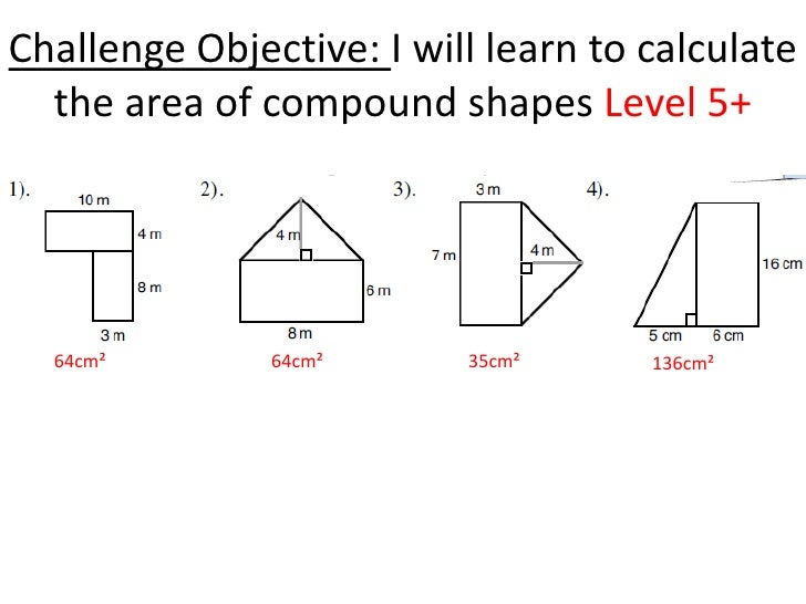 Area of rectangles and triangles – Area of Composite Figures Worksheets