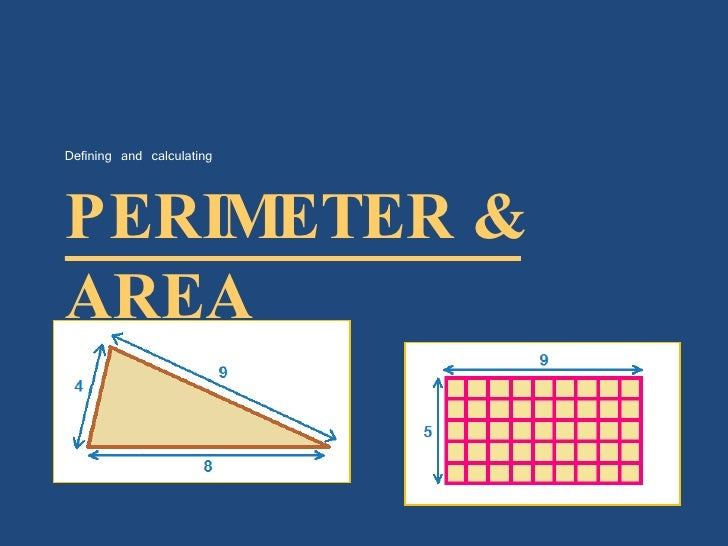 PERIMETER & AREA <ul><li>Defining and calculating </li></ul>