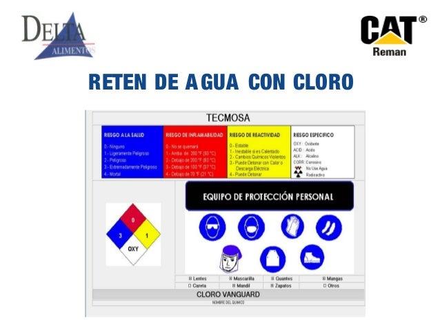 RETEN DE AGUA CON CLORO