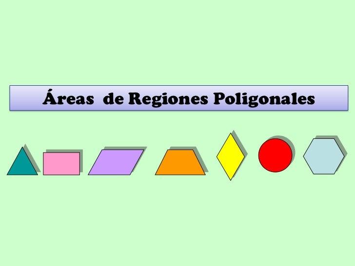Áreas de Regiones Poligonales