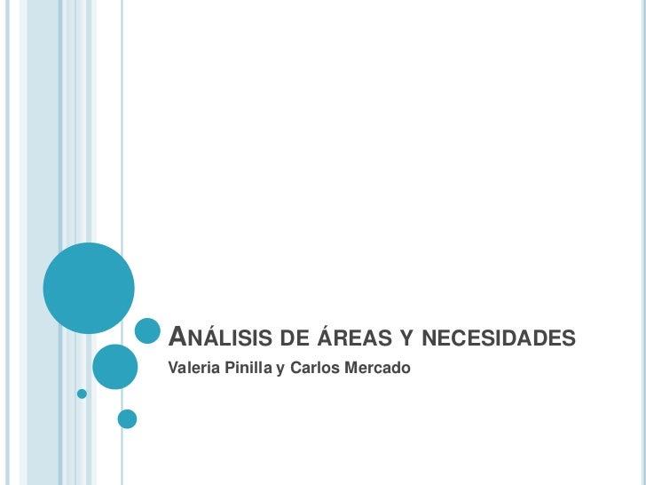 ANÁLISIS DE ÁREAS Y NECESIDADESValeria Pinilla y Carlos Mercado