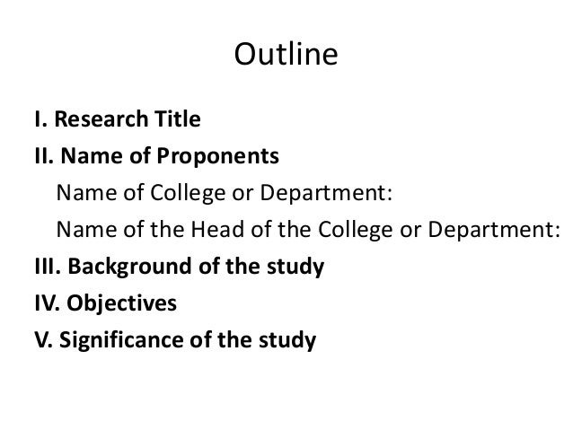 outline of thesis proposal