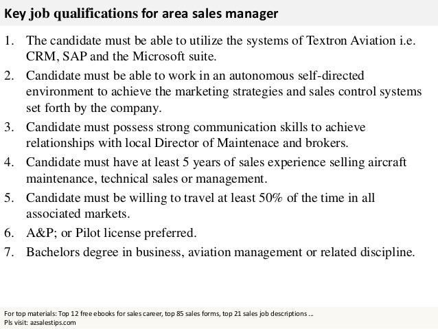 area manager job description