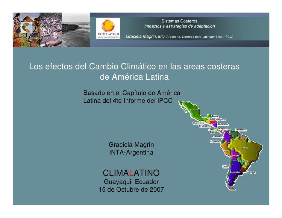 Sistemas Costeros                                      Impactos y estrategias de adaptación                            Gra...