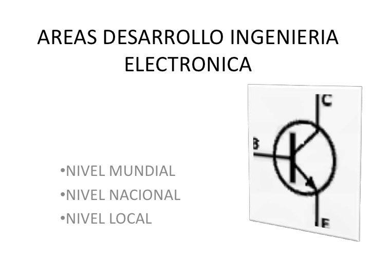AREAS DESARROLLO INGENIERIA ELECTRONICA<br /><ul><li>NIVEL MUNDIAL