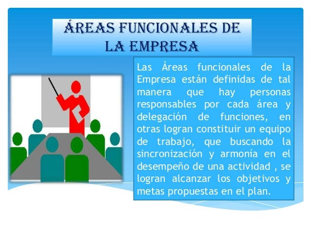 Areas funcionales de la empresa for Areas de la cocina y sus funciones