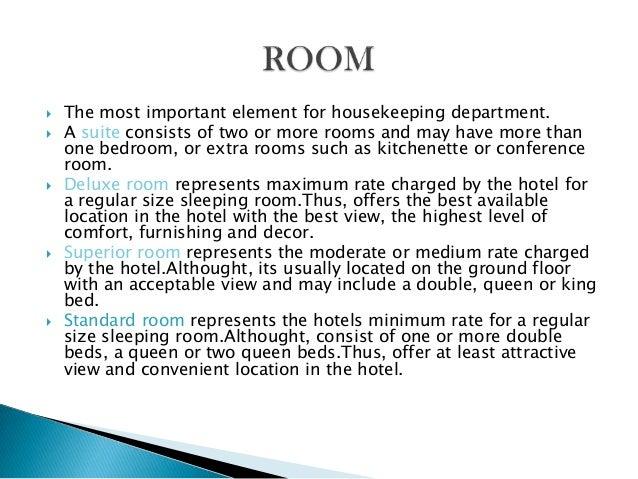 housekeeping responsibilities