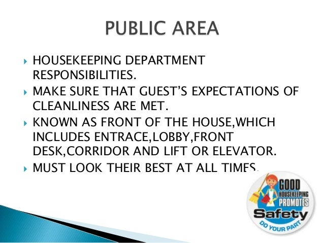 5 - Housekeeping Responsibilities