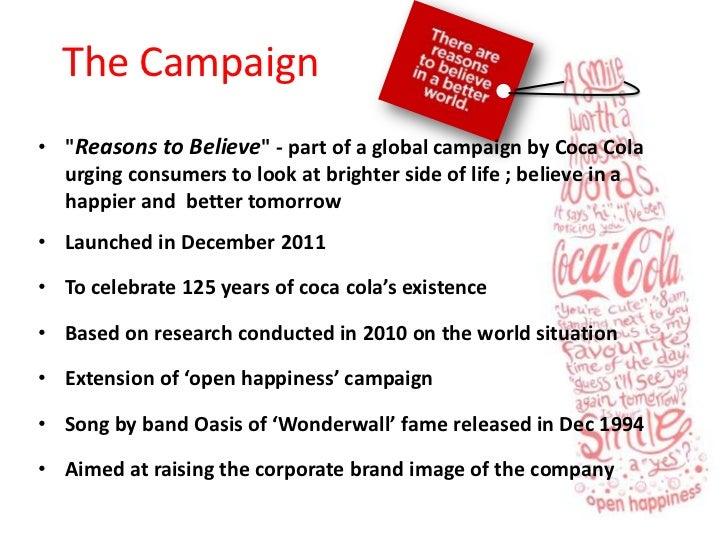 a reason to believe coca cola