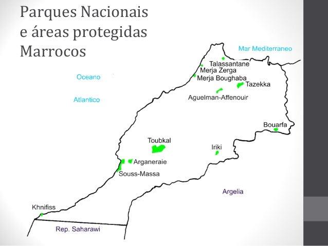 Parques Nacionais e áreas protegidas Marrocos