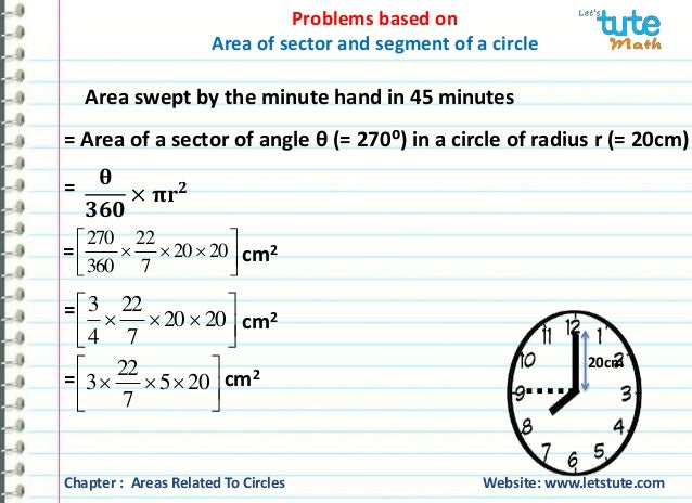 how to find sector of a circle with radius