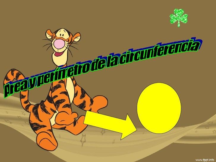 Area y perímetro de la circunferencia