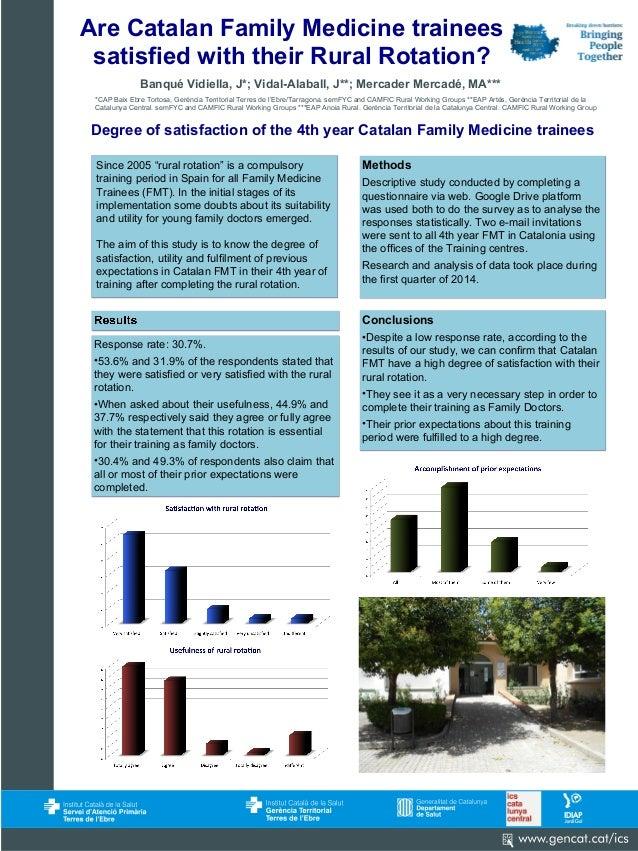 Banqué Vidiella, J*; Vidal-Alaball, J**; Mercader Mercadé, MA*** Are Catalan Family Medicine trainees satisfied with their...
