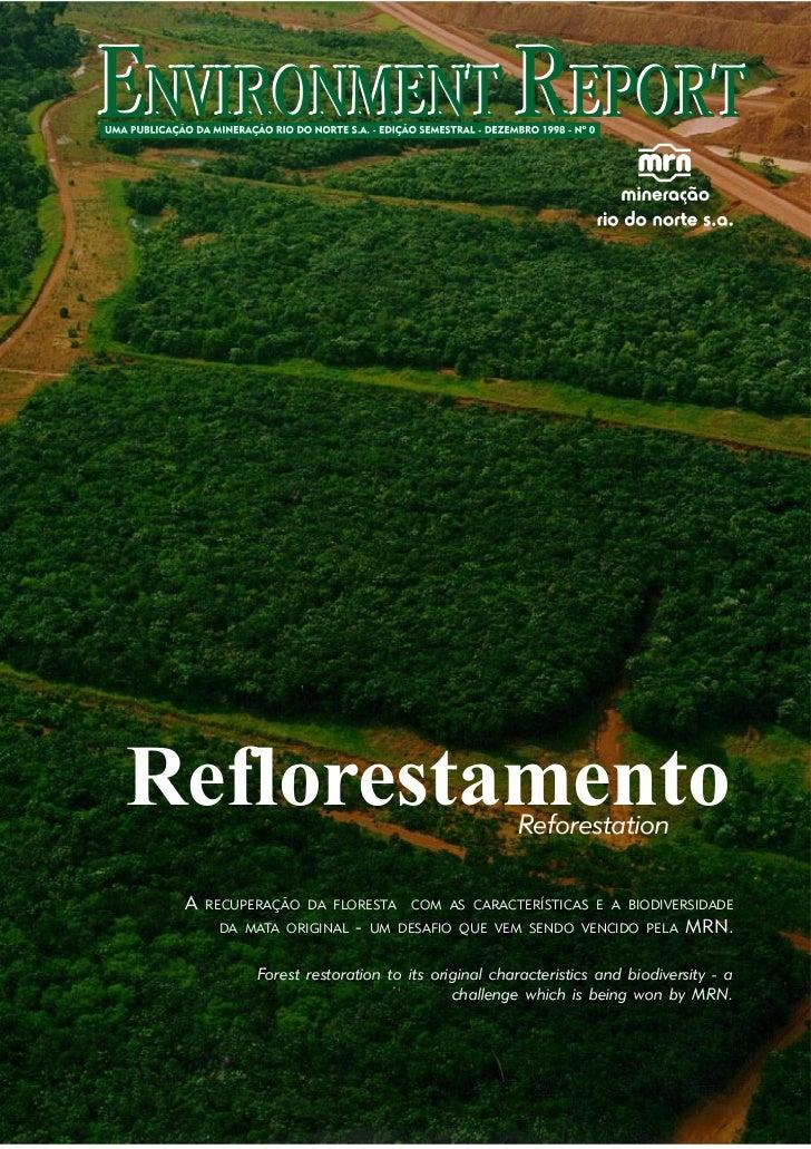 Reflorestamento                                  Reforestation A   RECUPERAÇÃO DA FLORESTA      COM AS CARACTERÍSTICAS E A...