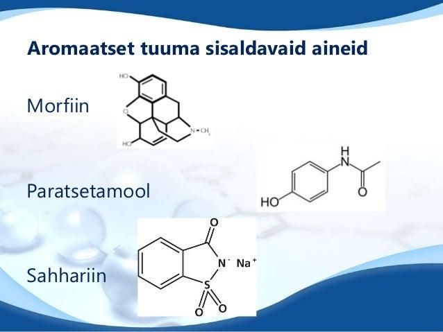 Aromaatset tuuma sisaldavaid aineidMorfiinParatsetamoolSahhariin