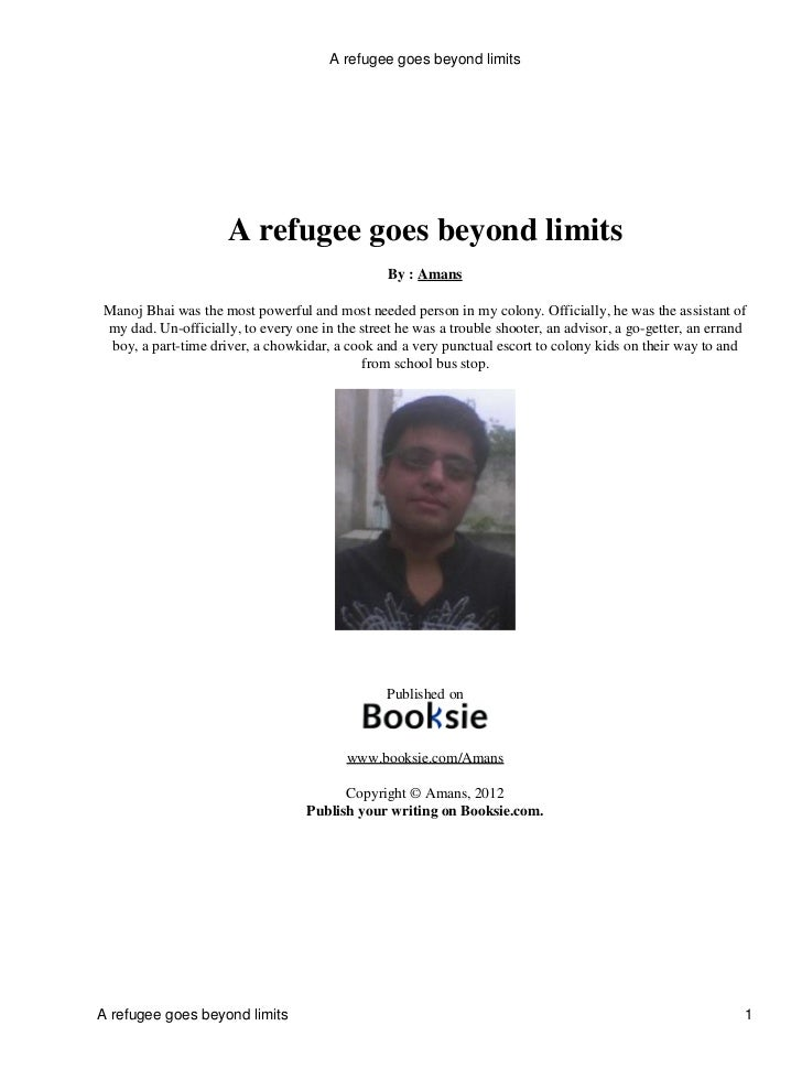 A refugee goes beyond limits                      A refugee goes beyond limits                                            ...