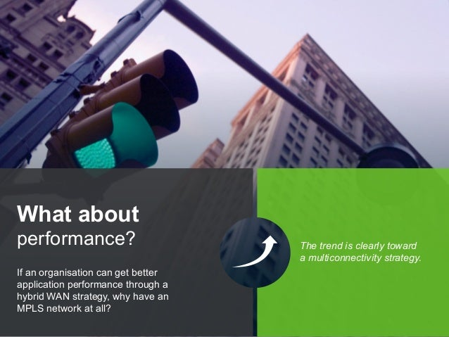 Copyright © 2015 Dimension Data If an organisation can get better application performance through a hybrid WAN strategy, w...