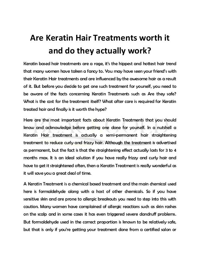 At Home Keratin Treatments Do They Work