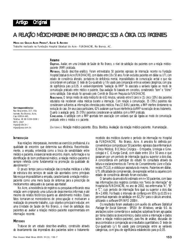 Rev Assoc Med Bras 2005; 51(3): 153-7 153 TRATAMENTO DE CRIANÇAS DESNUTRIDAS HOSPITALIZADASSARNI ROS ET AL. Artigo Origina...