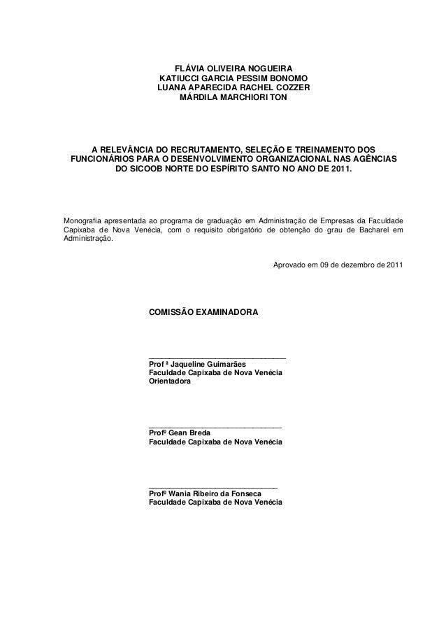 Monografia recrutamento e selecao pdf