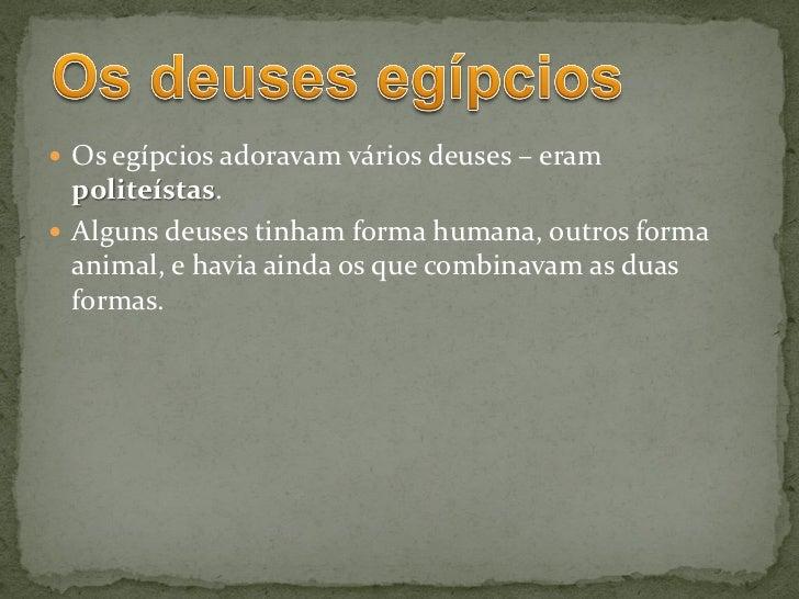 Antigo Egito - A religião egípcia Slide 3